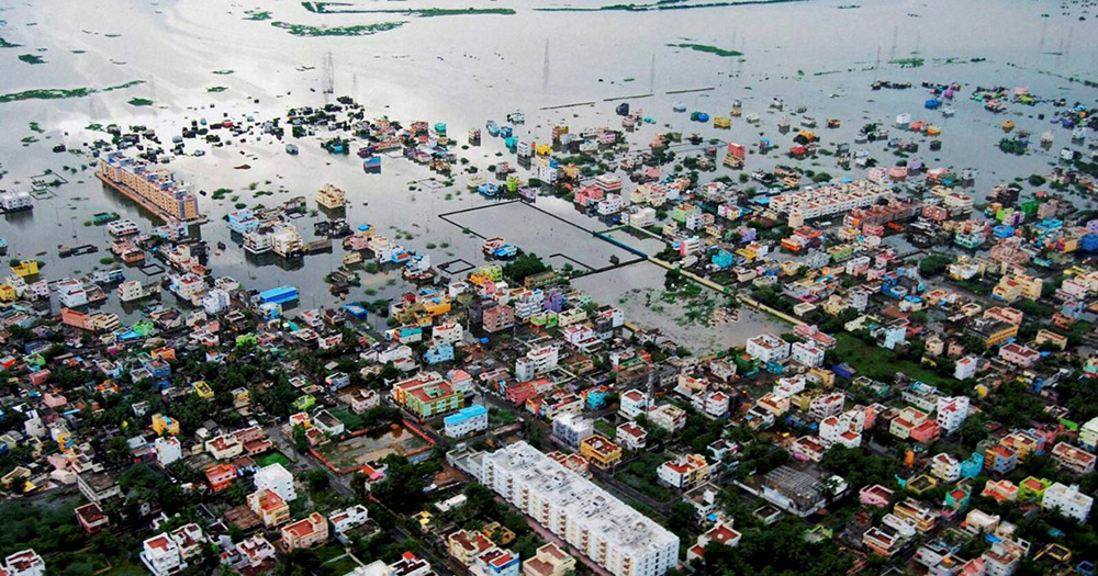 Southern chennai was badly affected