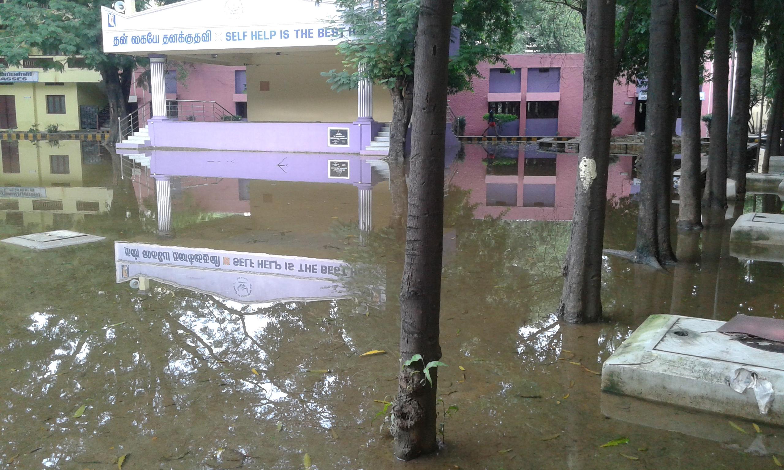 Little Flower School in Nungambakkam, Flood Damage